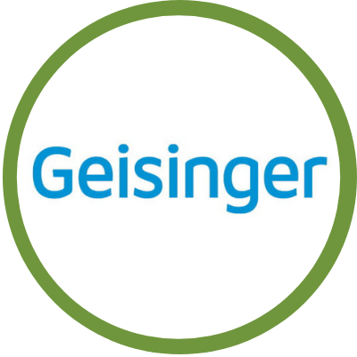 geisinger logo surrounded by green circle